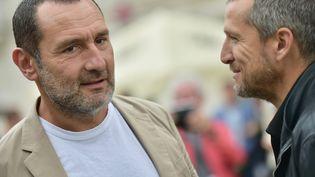 Gilles Lellouche sera Obélix et Guillaume Canet Astérix dans cette nouvelle adaptation de la BD. Ici à Angoulême le 25 août 2018 (FRANCK CASTEL / MAXPPP)