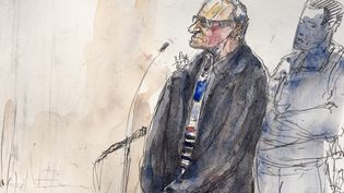 Francis Heaulme lors de son procès en appel pour le double meurtre de Montigny-lès-Metz (Moselle), àlacour d'assises des Yvelines à Versailles, le 4 décembre 2018. (BENOIT PEYRUCQ / AFP)