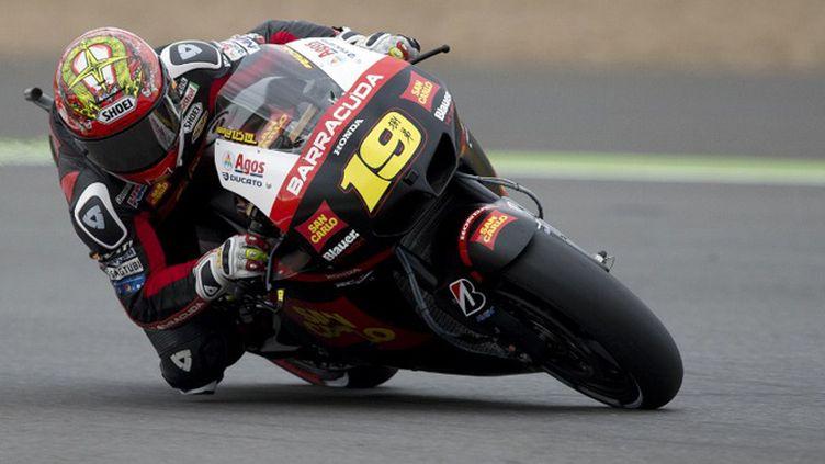 L'Espagnol Alvaro Bautista sur sa Honda