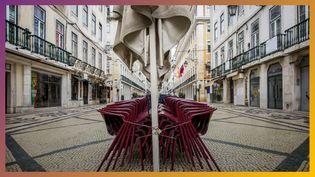 Une rue confinée. (FRANCE CULTURE / RADIOFRANCE / AFP)