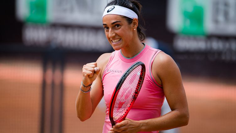 Caroline Garcia lors du premier tour de l'Internazionali BNL d'Italia 2021, tournoi de tennis WTA 1000 le 11 mai 2021 au Foro Italico à Rome, Italie. (ROB PRANGE / SPAIN DPPI)