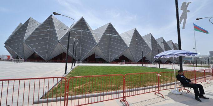 Le Crystal Hall de Bakou, théâtre de l'Eurovision 2012 (21/05/2012)  (Vyacheslav Oseledko / AFP)
