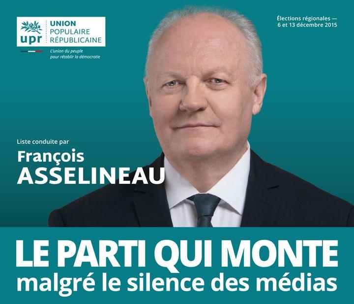 Le tract de François Asselineau pour les élections régionales de décembre 2015 en Ile-de-France. (UNION POPULAIRE REPUBLICAINE)