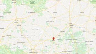 Une trentaine d'inscriptions antisémites ont été découvertes à Blois (Loir-et-Cher), le 14 février 2019. (GOOGLE MAPS / FRANCEINO)