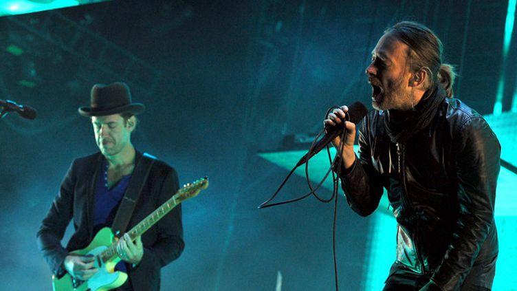 Radiohead sur scène à Indio, en Californie, le 14 avril 2012  (Kevin Winter / AFP)