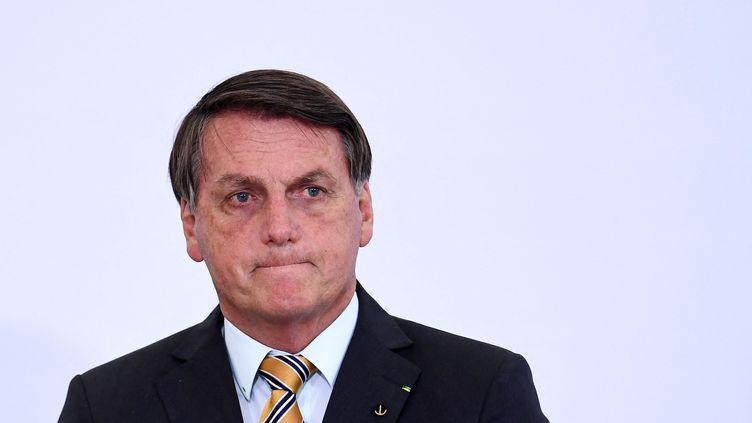Le président brésilienJairBolsonaro le 10 novembre 2020 à Brasilia (Brésil). (EVARISTO SA / AFP)