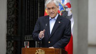 Le président chilienSebastian Piñera, le 26 octobre 2019, à Santiago (Chili). (PEDRO LOPEZ / AFP)