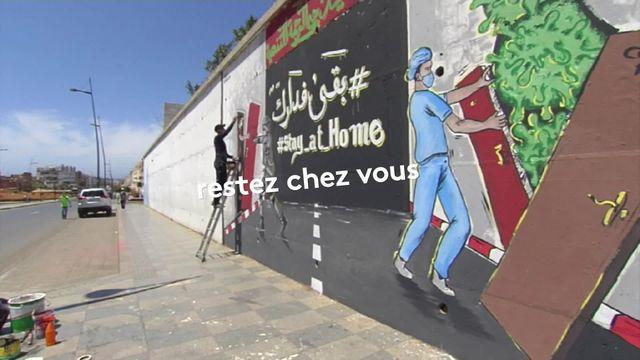 Maroc : des artistes de rue contre le coronavirus