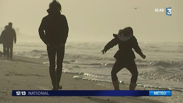 Hiver doux : les Français à la plage