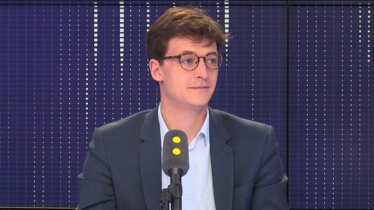 Sacha Houlié, député LREM de la Vienne, le 22 octobre 2018 sur franceinfo. (FRANCEINFO / RADIOFRANCE)