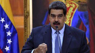 Le président venezuelien Nicolas Maduro, le 9 janvier. (YURI CORTEZ / AFP)