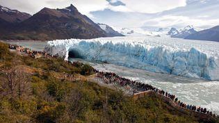 Le glacier Perito Moreno, dans le Parc national Los Glaciares, dans les Andes, au sud de l'Argentine. (Photo d'illustration) (WALTER DIAZ / AFP)