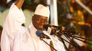 L'ex-président gambien Yahya Jammeh lors d'un meeting à Banjul en novembre 2016. (THIERRY GOUEGNON / X01735)