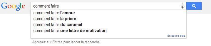 """Voilà ce qui se passe quand on demande à Google """"comment faire"""", le 24 janvier 2014. (GOOGLE.COM / FRANCETV INFO)"""