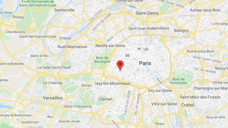 L'enfant a chuté du septième étage d'un immeuble du XVe arrondissement de Paris. (GOOGLE MAPS)