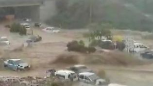 En Turquie, la ville d'Ankara a été surprise par une inondation provoquée par des pluies torrentielles le 5 mai dernier. Les rues se sont soudainement transformées en terrain de boue, on déplore d'importants dégâts matériels. (France 2)