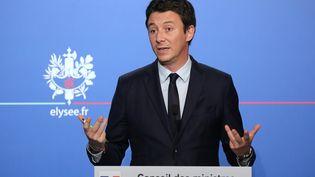 Le porte-parole du gouvernement Benjamin Griveaux lors d'une conférence de presse à l'Elysée, le 5 décembre 2018. (LUDOVIC MARIN / AFP)