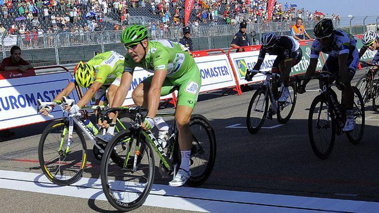 John Dekenkolb remporte sa 3e étape du Tour d'Espagne (JOSE JORDAN / AFP)