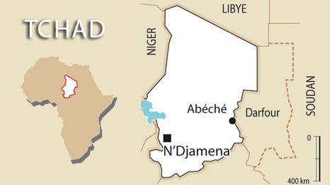 Carte Tchad (AFP/FTV)
