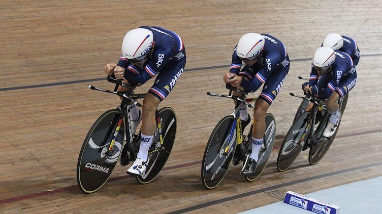 L'équipe de France de cyclisme sur piste. (CHRISTOPHE SAIDI/SIPA)