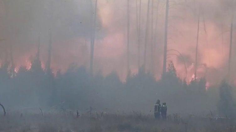 En Russie, des feux de forêts ravagent le centre du pays. (CAPTURE ECRAN FRANCE 2)