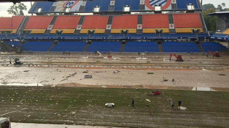 Le stade de Montpellier a été victime des intempéries