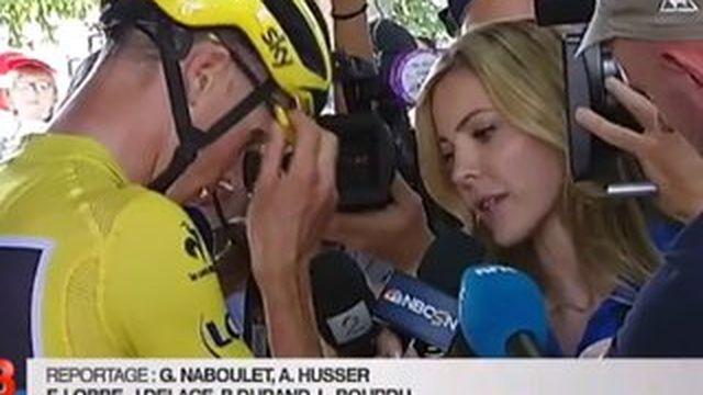 Tour de France : la presse a pu visiter les bus de l'équipe Sky