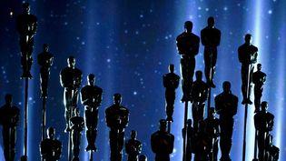 Statues d'Oscars haut perchées, lors de la cérémonie des Oscars, le 22 février 2015  (John Shearer / Sipa)