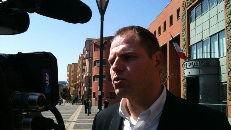 Me Jean-Yves Gougnaud, l'avocat de la mère de Mohamed Merah, le tueur au scooter, le 24 mars 2012 à Toulouse (Haute-Garonne). (PASCALE CONTE / FRANCE 3 MIDI-PYRENEES)