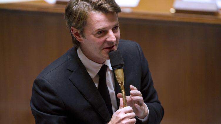 Le ministre des Finances, François Baroin, à l'Assemblée nationale le 15 novembre 2011. (FRED DUFOUR / AFP)