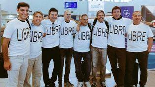Les dix amis argentins prennent la pose avant de s'envoler pour New York. (DR)