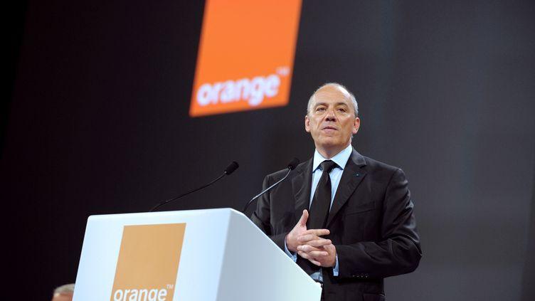 Le PDG d'Orange, Stéphane Richard, le 28 mai 2013, à Paris. (ERIC PIERMONT / AFP)