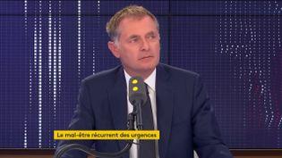 Philippe Juvin, chef du service des urgences de l'hôpital Georges-Pompidou à Paris. (FRANCEINFO / RADIOFRANCE)