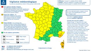 À 10 heures, Météo France lève la vigilance orange pour les Alpes-Maritimes. (METEO FRANCE)