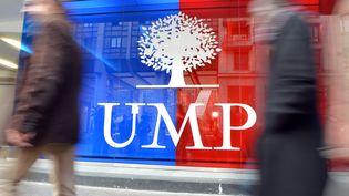 La façade du siège de l'UMP, le 19 novembre 2012 à Paris. (MIGUEL MEDINA / AFP)