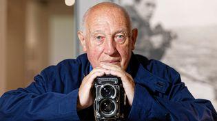LeRolleiflexgrand angle des années 60,appareil photo fétiche de Raymond Depardon. (DOMINIQUE LERICHE / MAXPPP)