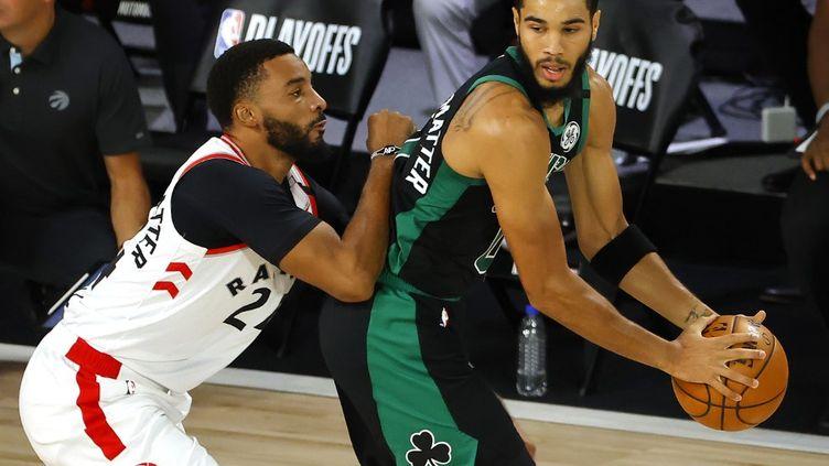 Jayson Tatum a été l'homme fort des Celtics face à Toronto  (KEVIN C. COX / GETTY IMAGES NORTH AMERICA)