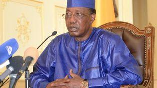 Idriss Déby Itno, le président du Tchad, le 9 août 2019 (BRAHIM ADJI / AFP)