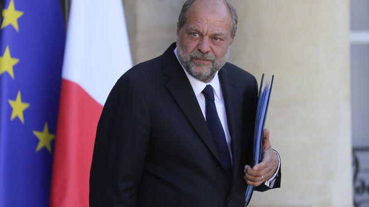 Le ministre de la Justice Eric Dupond-Moretti, le 7 juillet 2020 à l'Elysée. (LUDOVIC MARIN / AFP)