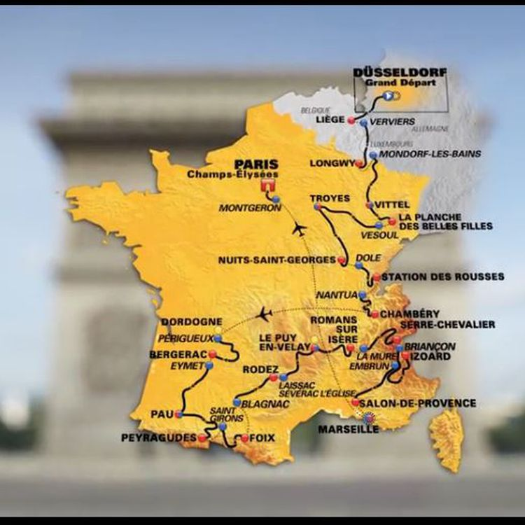 Le parcours du Tour de France 2017, présenté à Paris le 18 octobre 2016. (LE TOUR DE FRANCE / ASO)