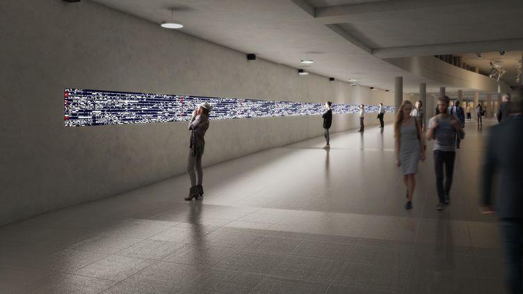 """Projet de Ryoji Ikeda, """"datascape"""" pour la futur gare de Pont de Sèvres  (STUDIO MIHO)"""