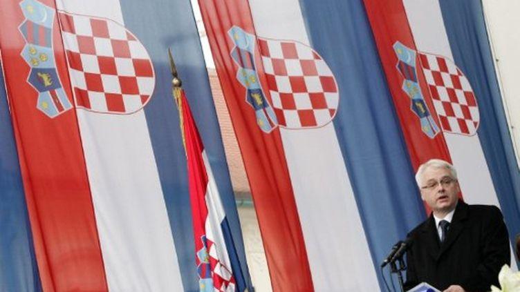 Le président croate, Ivo Josipovic, dans le Parlement à Zagreb le 18 février 2010 (AFP - Damir SENCAR)