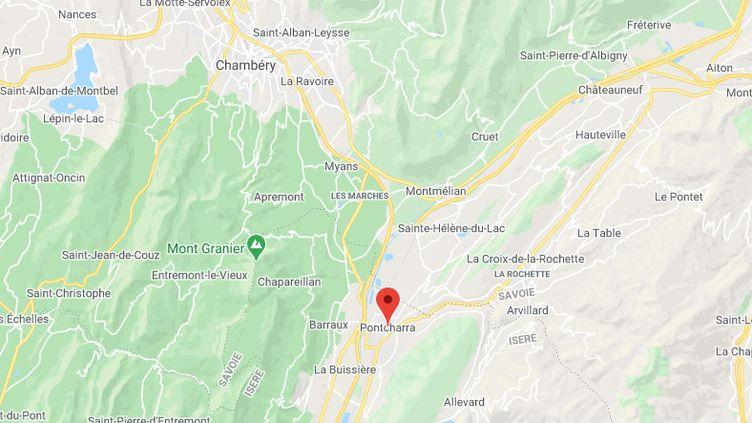Mégane était à Pontchara, situé à une trentaine de kilomètres de Chambéry. (GOOGLE MAPS)