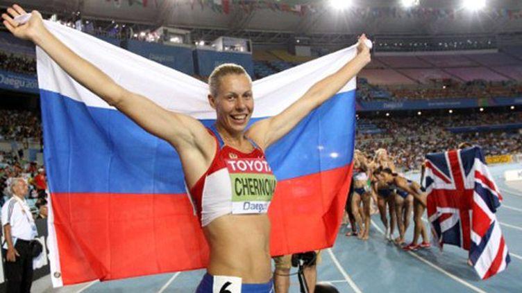 La Russe Tatyana Chernova hisse le drapeau russe au plus haut à l'heptathlon