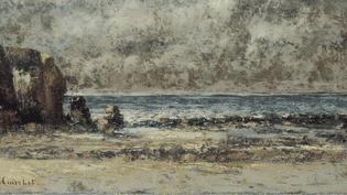 Gustave Courbet, Le calme, marine, 1865-1867, huile sur toile, Lons-le-Saunier, musée des Beaux-arts  (musées de Lons-le-Saunier /Jean-Loup Mathieu)