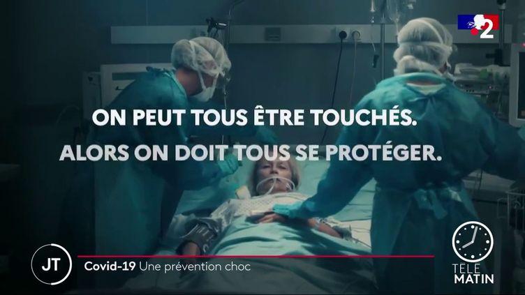 Une capture écran du spot publicitaire du gouvernement contre le Covid-19. (France 2)
