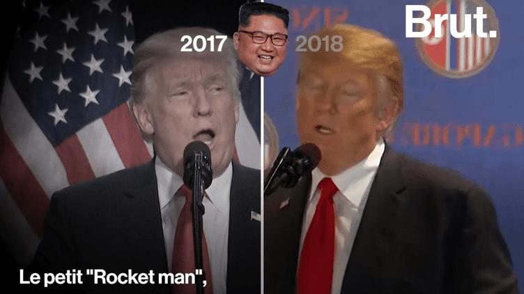 VIDEO. « Il est vraiment très talentueux » … Quand Donald Trump fait des éloges de Kim Jong-Un lors de leur rencontre à Singapour (BRUT)