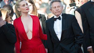 L'actrice Emmanuelle Seigner et son mari, le réalisateur Roman Polanski, au festival de Cannes, le 25 mai 2013. (PDN / VILLARD / SIPA)