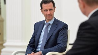 Le président syrien Bachar Al-Assad, le 21 octobre 2015 à Moscou (Russie). (KREMLIN PRESS OFFICE / ANADOLU AGENCY / AFP)