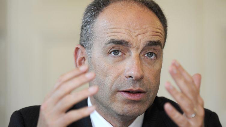 Le président de l'UMP,Jean-François Copé, face à la presse, le22 janvier 2014. (JOHN THYS / AFP)
